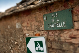 The rue de la chapelle (perfect for a bike ride!)