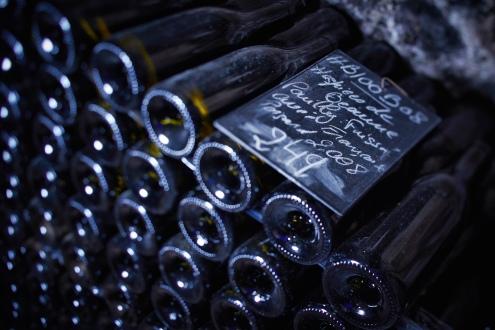 Bottles in the cellar